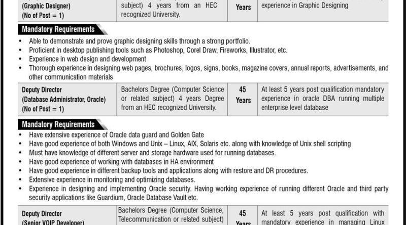 Nadra Headquarter Islamabad Jobs