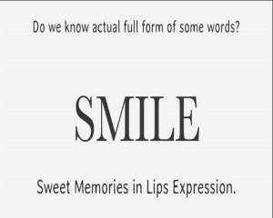 Full form of Smile