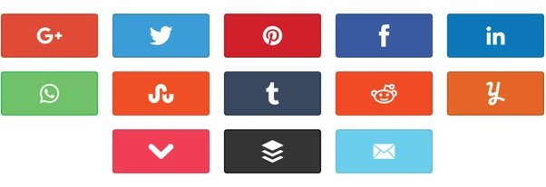 Social Media share buttons to promote your site for free