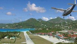 Gustaf iii Airport, Caribbean Island