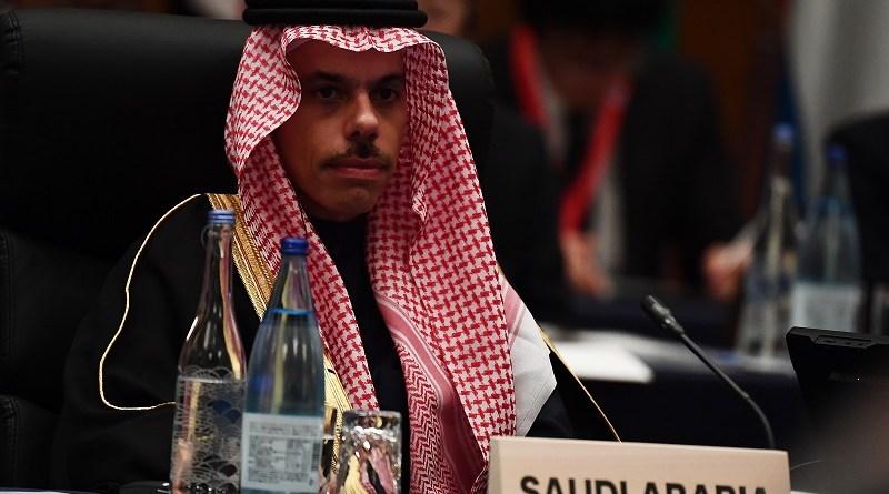 Saudi Arabia's Foreign Minister Prince Faisal bin Farhan bin Abdullah Al Saud.