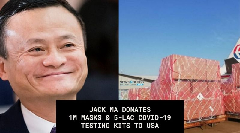 Jack Ma Donates Masks and Coronavirus testing kits to USA
