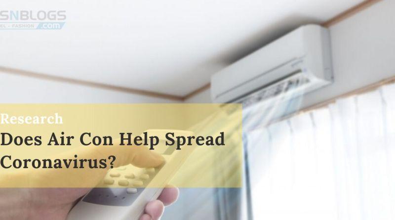 Does Air Conditioners help spread coronavirus
