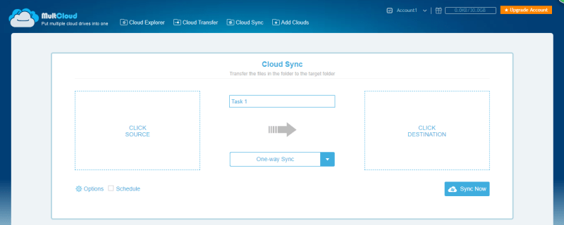 MultCloud Cloud Sync
