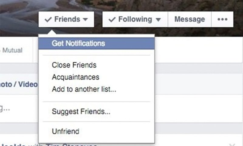 Always receive notifications of a particular person's posts