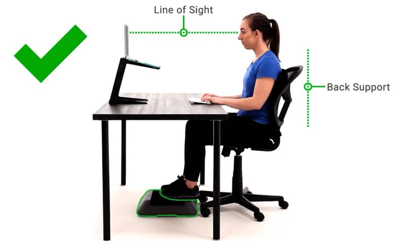 Sitting Postion to avoid back pain