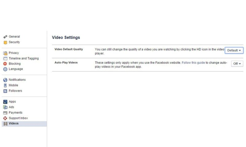 Turn off autoplay videos on the news feed - Facebook Tips and Tricks