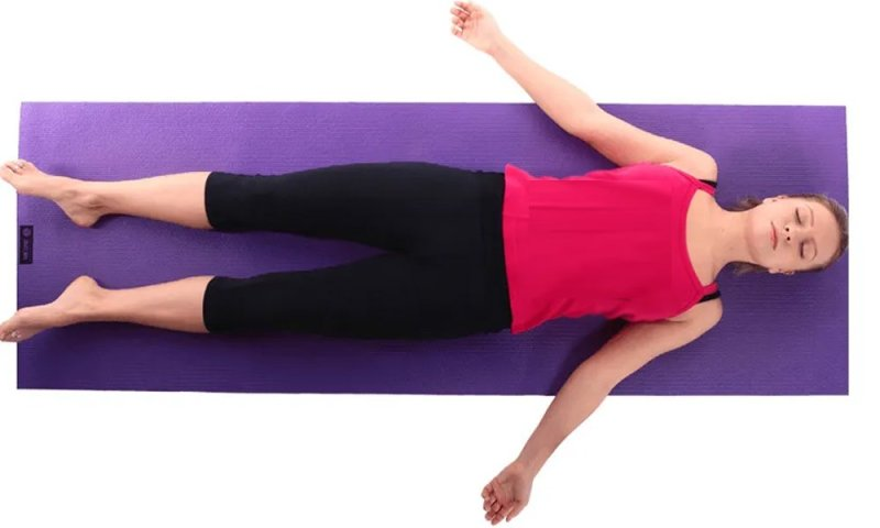 Corpse pose to reduce Migraine Pain