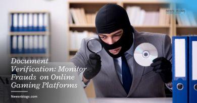Document Verification: Monitor Frauds on Online Gaming Platforms