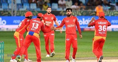 PSL 2021: United's brilliant performance, defeating Qalandars by 28 runs