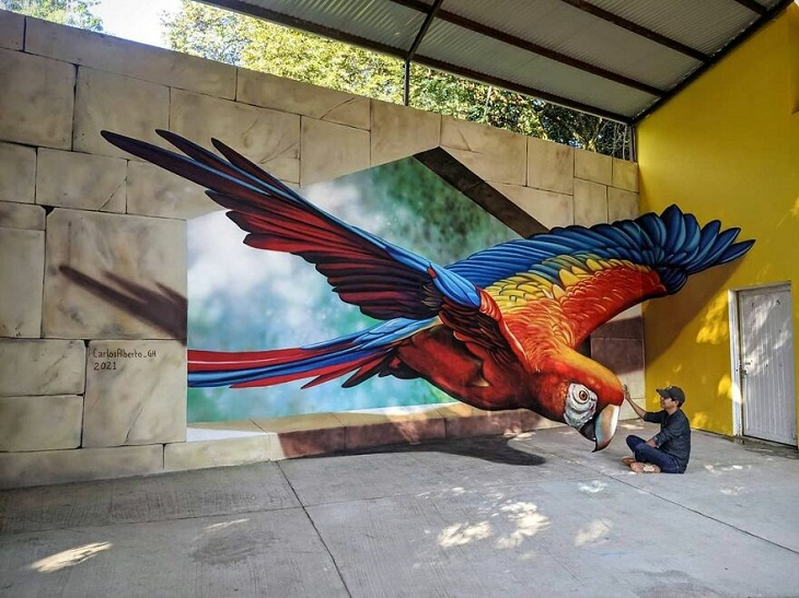 Parrot 3d painting by Carlos Alberto GH