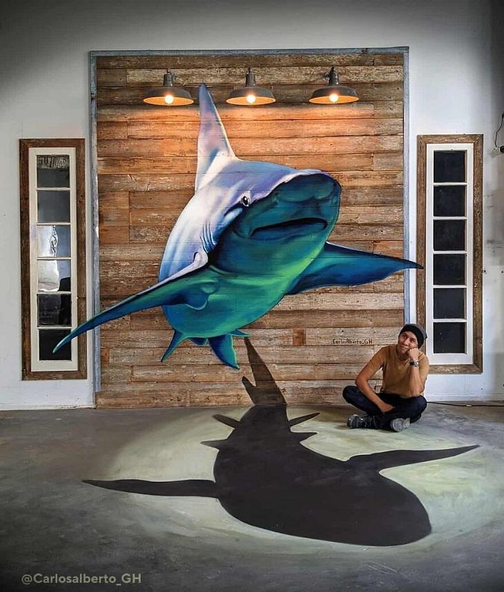Shark 3D Painting by Carlos Alberto GH
