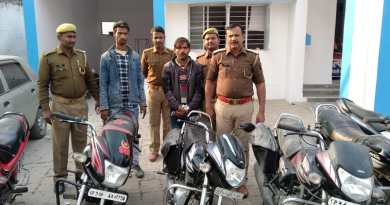 सीतापुर पुलिस की गिरफ्तार में वाहन चोर