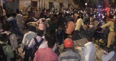 मुंबई के सीएसटी स्टेशन पर हादसा