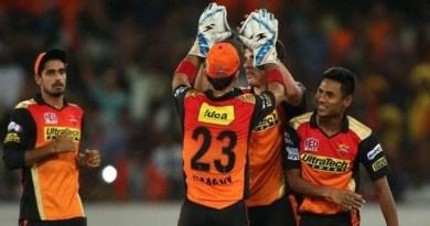 सनराइजर्स हैदराबाद को मिली जीत
