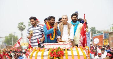 JNU के पूर्व छात्रसंघ अध्यक्ष और लोकसभा चुनाव 2019 में CPI के प्रत्याशी कन्हैया कुमार ने मंगलवार को बेगूसराय से नामांकन किया।