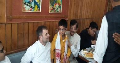 पटना के रेस्टोरेंट में पहुंचे राहुल गांधी