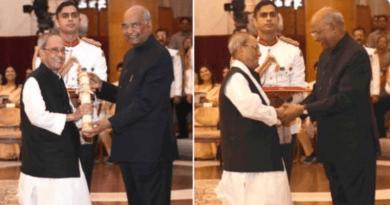 प्रणब मुखर्जी समेत तीन दिग्गजों को भारत रत्न से किया गया सम्मानित