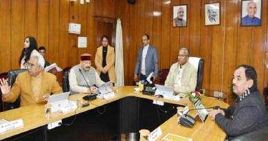 देहरादून सचिवालय में सीएम त्रिवेंद्र सिंह रावत की अध्यक्षता में कैबिनेट की बैठक हुई। बैठक में 18 में से 17 प्रस्तावों पर कैबिनेट ने मुहर लगाई।