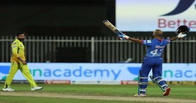 IPL 13: 'गब्बर' के आगे नहीं चला चेन्नई का जादू, जड़ा पहला टी20 शतक, DC ने 5 विकेट से जीता मैच
