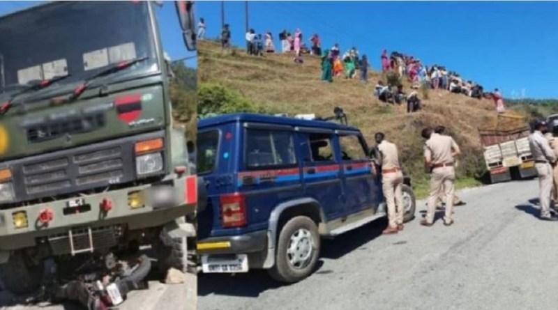 उत्तराखंड में पिथौरागढ़ नेशनल हाईवे पर दर्दनाक सड़क हादसा हुआ है। राईकोट गांव के सामने सेना की गाड़ी ने एक बाइक को जोरदार टक्कर मार दी। हादसे में 19 साल के युवक की मौके पर ही मौत हो गई।