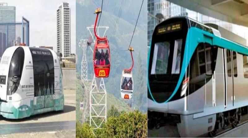 उत्तराखंड मेट्रो कॉर्पोरेशन की लंबी जद्दोजहद के बाद प्रदेश सरकार ने सरकार ने लाइट मेट्रो, रोपवे और पॉड टैक्सी के परिवहन योजना को हरी झंडी दे दी है।