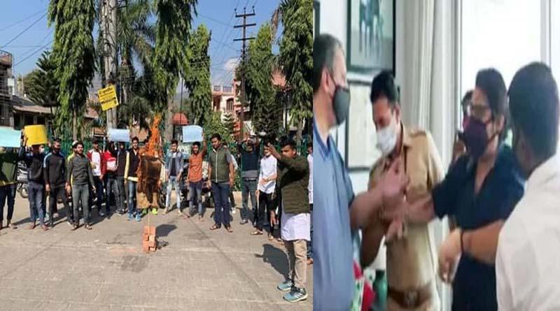 उत्तराखंड में भी दिखा अर्णब की गिरफ्तारी का विरोध, ABVP ने फूंका महाराष्ट्र सरकार का पुतला