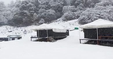 उत्तराखंड के चमोली के चोपात में इस सीजन की पहली बर्फबारी हुई है। स्नोफॉल को देख पर्यटकों के साथ ही स्थानीय व्यवसायियों के चेहरे खिल गए हैं।