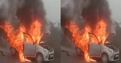 उत्तराखंड में चलती कार में भयानक आग लगने से मची अफरा-तफरी, कार सवार युवकों ने ऐसे बचाई जान