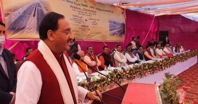 केंद्रीय शिक्षा मंत्री डॉ. रमेश पोखरियाल निशंक ने अपने संसदीय क्षेत्र हरिद्वार में एनएचएआई की दो बड़ी परियोजनाओं का उद्घाटन किया।
