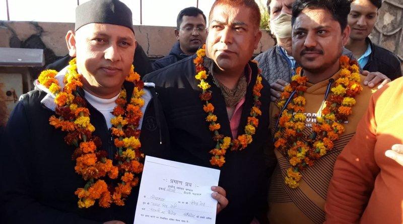 टिहरी गढ़वाल के बौराड़ी व्यापार मंडल चुनाव में महताब गुनसोला ने जीत हासिल की है। उन्होंने शिवराज सिंह को 50 मतों से हरा दिया है।