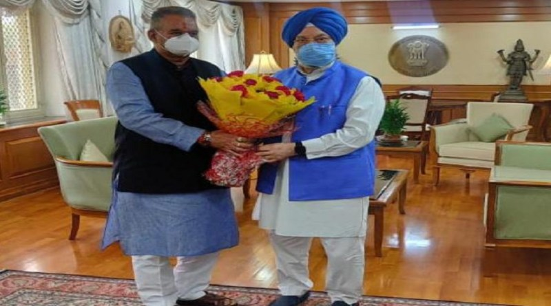 उत्तराखंड कैबिनेट मंत्री गणेश जोशी ने केंद्रीय मंत्री हरदीप पुरी से की मुलाकात, ऐथेनाल प्लांट की स्थापना की मांग की