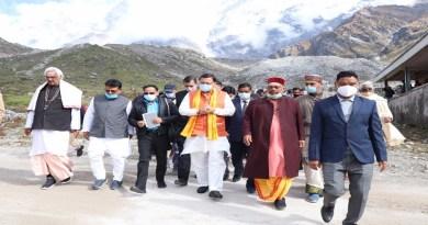 उत्तराखंड: CM पुष्कर सिंह धामी ने केदारनाथ पुनर्निर्माण कार्यो का कियाअवलोकन, श्रद्धालुओं से की कोविड गाइडलाइन का पालन करने की अपील