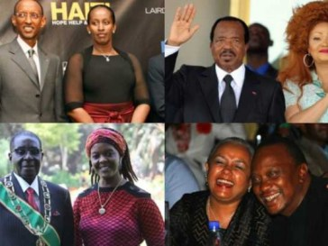 African-Presidents and their wifes