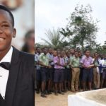 Abraham Attah, Ambassador for Toms Shoes, Interacts with school pupils, Eastern Region, Ghana