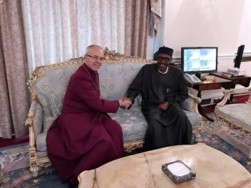 Photo Of Nigerian President Buhari With Archbishop Of Canterbury In London Today