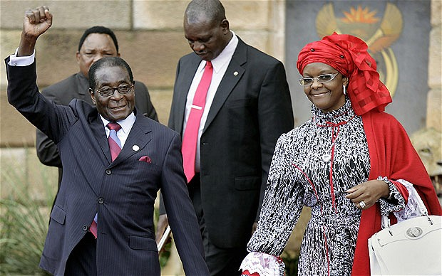 Zimbabwe's First Lady, Grace Says President Mugabe 'Is A Prophet For Other African Leaders'