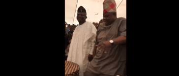 WATCH: Nigerian Dancing Senator, Ademola Adeleke, Show Off Dance Moves In Atlanta Church