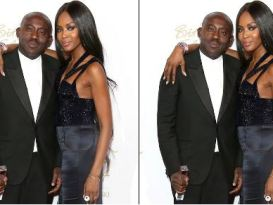 Naomi Campbell and Vogue editor Edward Enninful