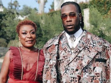 Burna Boy and His mother