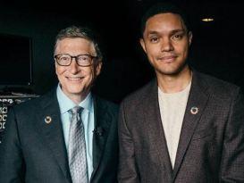 Trevor Noah and Bill Gates