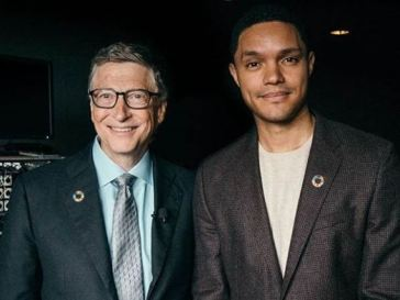 Trevor Noah and Bill Gates