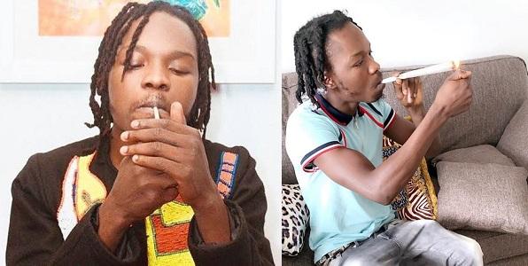 Naira Marley smoking