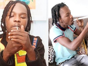 Naira Marley smoking