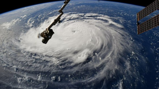 Amazing View of Hurricane's Approach