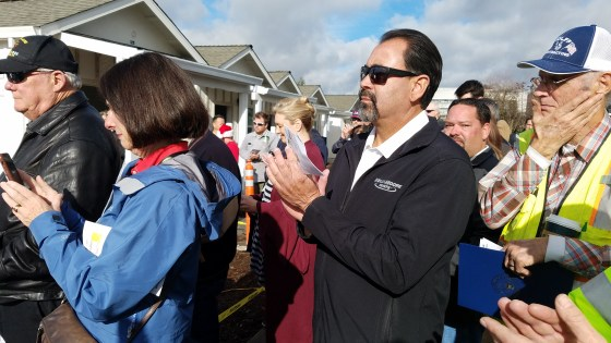 Live at Veteran's Tiny Home Village Dedication