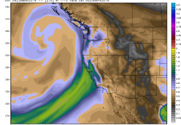Thunderstorms, High 70s, then Atmospheric River?