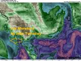 Tropical Storm Moisture Arrives late Tuesday