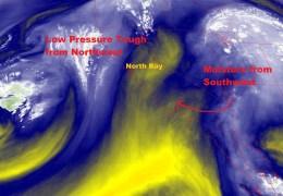 NOAA/NESDIS/STAR GOES ABI BAND 09 OR_ABI-L1b-RadF-M6C09_G17_s20192461710341_e20192461719413_c20192461719468.nc