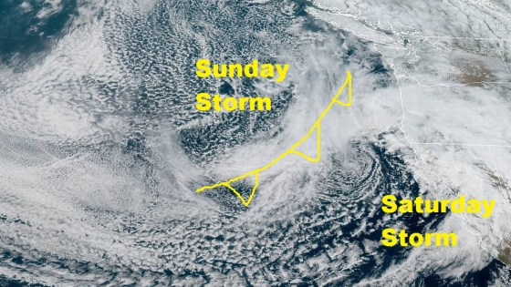 Sunday Storm Coming with Heavy Rain, Winds